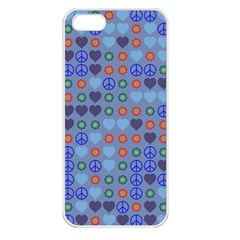 Peace And Love Apple Iphone 5 Seamless Case (white) by LalyLauraFLM