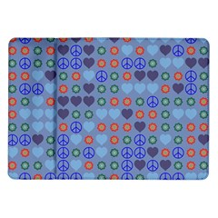 Peace And Love Samsung Galaxy Tab 10 1  P7500 Flip Case by LalyLauraFLM