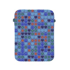 Peace And Love Apple Ipad 2/3/4 Protective Soft Case by LalyLauraFLM