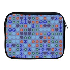 Peace And Love Apple Ipad 2/3/4 Zipper Case by LalyLauraFLM
