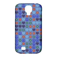 Peace And Love Samsung Galaxy S4 Classic Hardshell Case (pc+silicone) by LalyLauraFLM