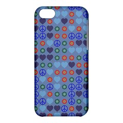 Peace And Love Apple Iphone 5c Hardshell Case