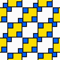 Yellow And Blue Squares Pattern Canvas 16  X 16  by LalyLauraFLM