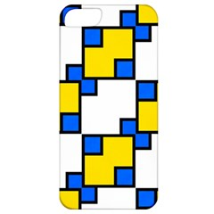 Yellow And Blue Squares Pattern Apple Iphone 5 Classic Hardshell Case by LalyLauraFLM