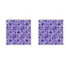 Decorative Floral Print Cufflinks (square) by dflcprintsclothing