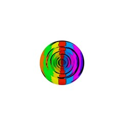 Rainbow Test Pattern 1  Mini Button
