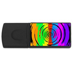 Rainbow Test Pattern 4gb Usb Flash Drive (rectangle) by StuffOrSomething