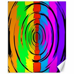 Rainbow Test Pattern Canvas 11  X 14  (unframed) by StuffOrSomething