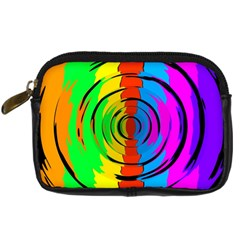 Rainbow Test Pattern Digital Camera Leather Case by StuffOrSomething