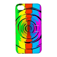 Rainbow Test Pattern Apple Iphone 4/4s Hardshell Case With Stand by StuffOrSomething
