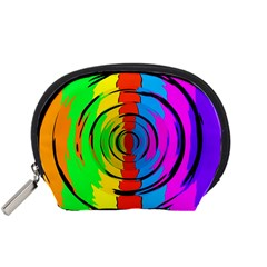 Rainbow Test Pattern Accessory Pouch (small) by StuffOrSomething