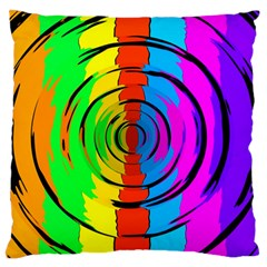 Rainbow Test Pattern Standard Flano Cushion Case (one Side) by StuffOrSomething