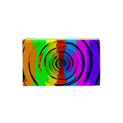 Rainbow Test Pattern Cosmetic Bag (xs)