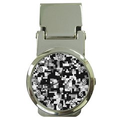 Background Noise In Black & White Money Clip With Watch by StuffOrSomething