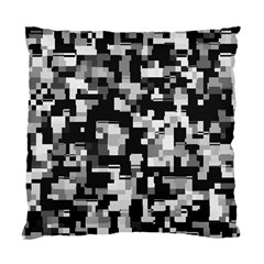 Background Noise In Black & White Cushion Case (two Sided)  by StuffOrSomething