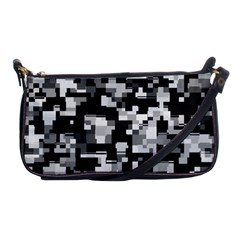 Background Noise In Black & White Evening Bag by StuffOrSomething