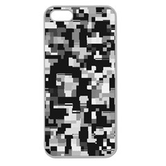 Background Noise In Black & White Apple Seamless Iphone 5 Case (clear)