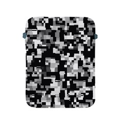Background Noise In Black & White Apple Ipad Protective Sleeve by StuffOrSomething