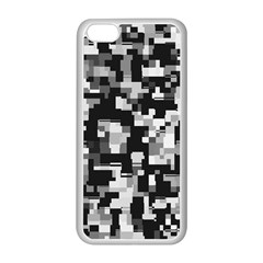 Background Noise In Black & White Apple Iphone 5c Seamless Case (white) by StuffOrSomething