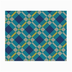 Squares And Stripes Pattern Glasses Cloth (small, Two Sides)