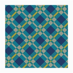 Squares And Stripes Pattern Glasses Cloth (medium) by LalyLauraFLM