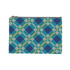 Squares And Stripes Pattern Cosmetic Bag (large) by LalyLauraFLM