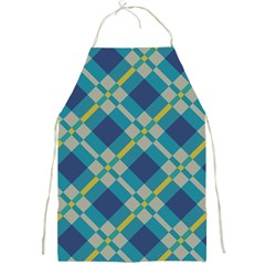 Squares And Stripes Pattern Full Print Apron by LalyLauraFLM