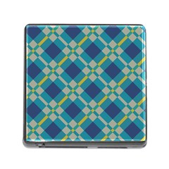 Squares And Stripes Pattern Memory Card Reader With Storage (square) by LalyLauraFLM