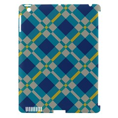 Squares And Stripes Pattern Apple Ipad 3/4 Hardshell Case (compatible With Smart Cover) by LalyLauraFLM