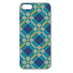 Squares And Stripes Pattern Apple Seamless Iphone 5 Case (clear) by LalyLauraFLM