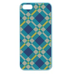 Squares And Stripes Pattern Apple Seamless Iphone 5 Case (color) by LalyLauraFLM