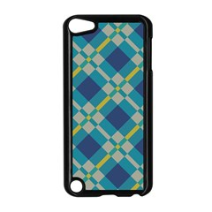 Squares And Stripes Pattern Apple Ipod Touch 5 Case (black) by LalyLauraFLM