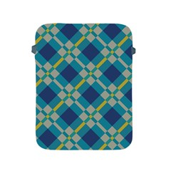 Squares And Stripes Pattern Apple Ipad 2/3/4 Protective Soft Case