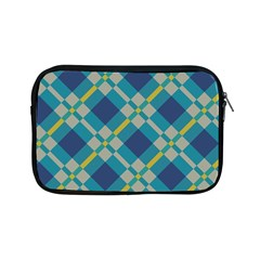 Squares And Stripes Pattern Apple Ipad Mini Zipper Case by LalyLauraFLM