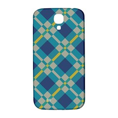 Squares And Stripes Pattern Samsung Galaxy S4 I9500/i9505  Hardshell Back Case by LalyLauraFLM