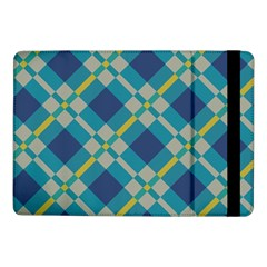 Squares And Stripes Pattern	samsung Galaxy Tab Pro 10 1  Flip Case by LalyLauraFLM