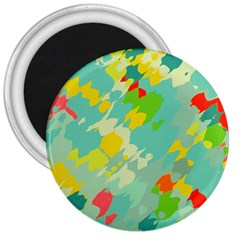 Smudged Shapes 3  Magnet by LalyLauraFLM