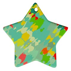 Smudged Shapes Ornament (star) by LalyLauraFLM