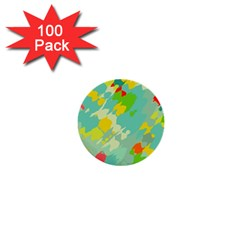 Smudged Shapes 1  Mini Button (100 Pack)