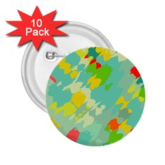Smudged Shapes 2 25  Button (10 Pack) by LalyLauraFLM