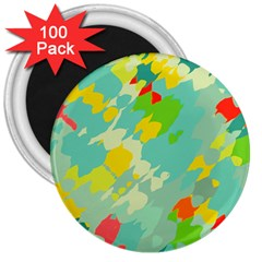 Smudged Shapes 3  Magnet (100 Pack) by LalyLauraFLM
