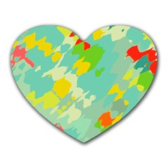 Smudged Shapes Heart Mousepad