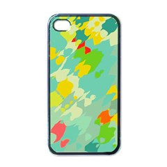 Smudged Shapes Apple Iphone 4 Case (black) by LalyLauraFLM