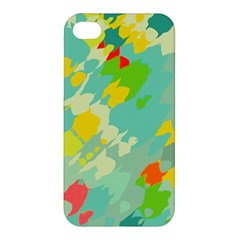 Smudged Shapes Apple Iphone 4/4s Premium Hardshell Case by LalyLauraFLM