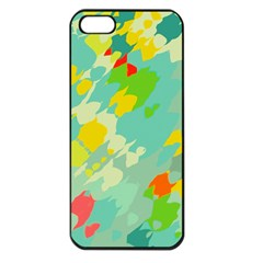 Smudged Shapes Apple Iphone 5 Seamless Case (black) by LalyLauraFLM