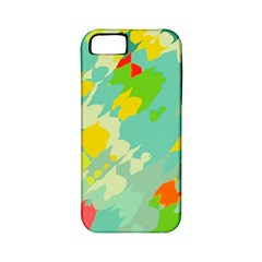 Smudged Shapes Apple Iphone 5 Classic Hardshell Case (pc+silicone) by LalyLauraFLM