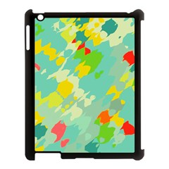 Smudged Shapes Apple Ipad 3/4 Case (black) by LalyLauraFLM
