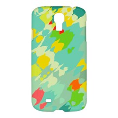 Smudged Shapes Samsung Galaxy S4 I9500/i9505 Hardshell Case by LalyLauraFLM
