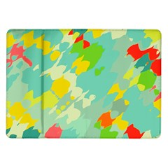 Smudged Shapes Samsung Galaxy Tab 10 1  P7500 Flip Case by LalyLauraFLM