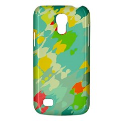 Smudged Shapes Samsung Galaxy S4 Mini (gt I9190) Hardshell Case  by LalyLauraFLM